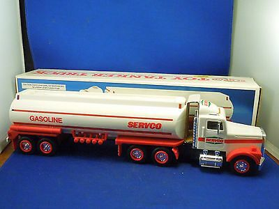 Vintage 1991 Servco Gasoline Toy Tanker Truck w Box - Dual Sound Switch