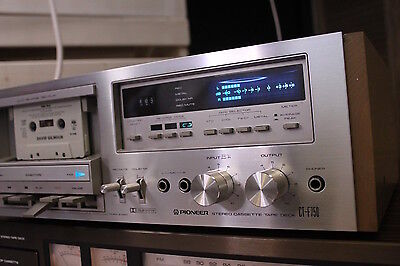 Vintage Pioneer CT-F750 Stereo Auto Reverse  Cassette Deck EXCL WORKS wood sides