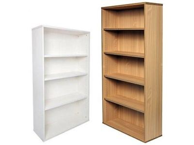 Rapid Span Bookcase 2 Sizes 2 Colours Adjustable Shelves