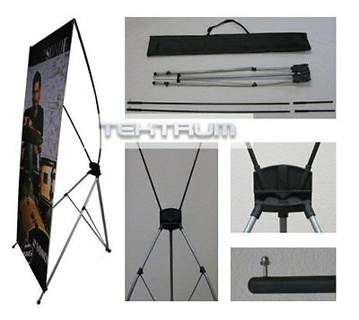 TEKTRUM Large 32 x 71 Inches Tripod X Banner Stand for Trade Show/Store Display