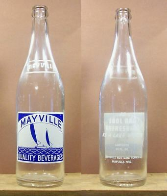 Maville Picture of Sail Boats Acl 24 oz Soda Pop Bottle Mayville Wisconsin 669