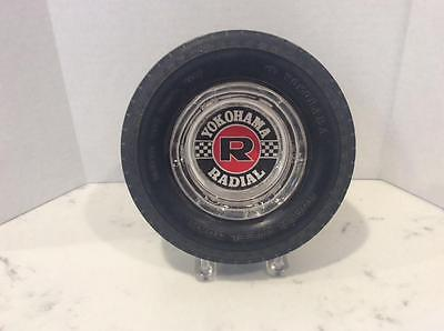 Vintage Yokohama Radial Rubber Tire Advertising Ashtray, Exc Condition