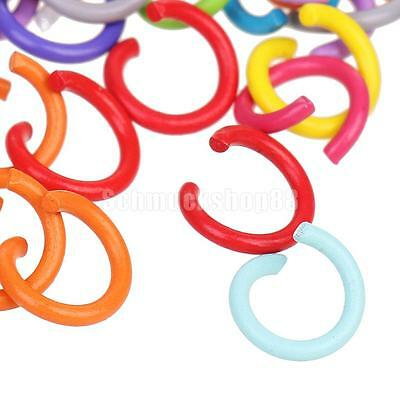 100pcs Open Jump Rings Split Rings Findings for Jewelry Making Craft DIY 7mm