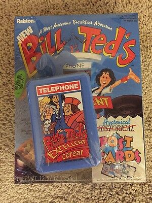 Ralston 1990 BILL & TED'S EXCELLENT CEREAL Full And Unopened with Telephone Case