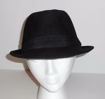 ALL AMERICAN STETSON Men s Wool Blend Fedora Hat Charcoal S M NWT ... 0cfcc23bf0e