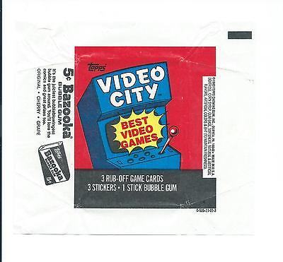 Video City Trading Card Wax Wrapper Vintage Topps 1983