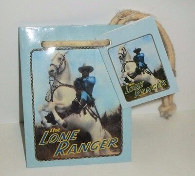 "Hamilton Gifts Presents Mini Lone Ranger & Silver Gift Bag 1989 2.5""x3.5""x1.5"""