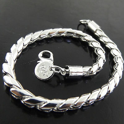 A453 Genuine Real 925 Sterling Silver S/f Solid Mens Ladies Cuff Bracelet Bangle