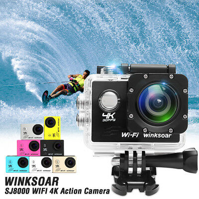 Waterproof SJ8000 SJ4000 16MP 4K WiFi 170° Sports Action Camera With Sony Sensor