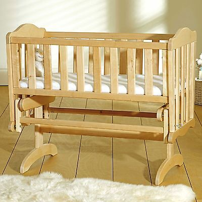 Saplings Baby Bedtime Sleeping Glider Crib In Natural - From Birth to 6 Years
