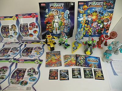 Fisher Price Planet Heroes Figure & DVD Toy Lot Ace Luna Digger Shooter Tiny Zip
