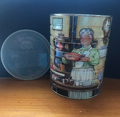 """Maxwell House Coffee Can """"Family Gathering For Grandma's Pie""""  ~ 1993 Vintage"""