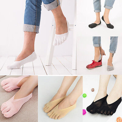 5 Pairs Women Soft Liner Socks Low Cut No Show Five Finger Toe Boat Sock Footies