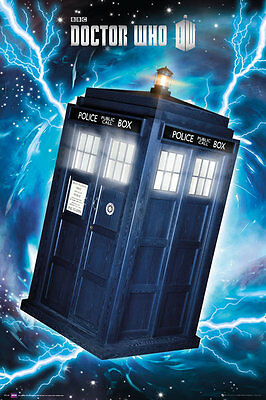 """DOCTOR WHO laminated POSTER """"TARDIS"""" LICENSED """"BRAND NEW"""""""