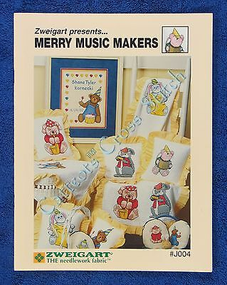 Cross Stitch Pattern Merry Music Makers Designs for Baby Blankets Dog Teddy