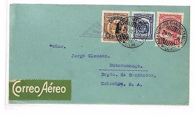 BF22 1925 COLOMBIA AIRMAIL *SCADTA* Combination Franking Cover Bucaramanga