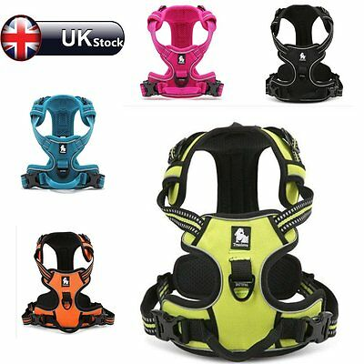 No-pull Pet Dog Harness 3M Reflective Outdoor Adventure Puppy Vest Padded Handle