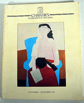 Vintage Nov. Dec. 1984 Book Christies Auctions House Magazine Paintings Art