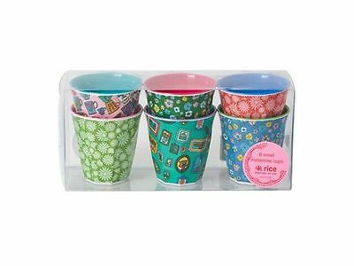 RICE Melamine - Set of 6 Small Cups - Playful Print