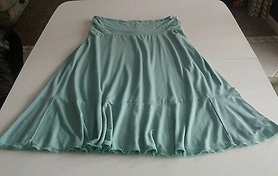 Long Maternity Skirt size Small Medium Lots of Stretch Light Green