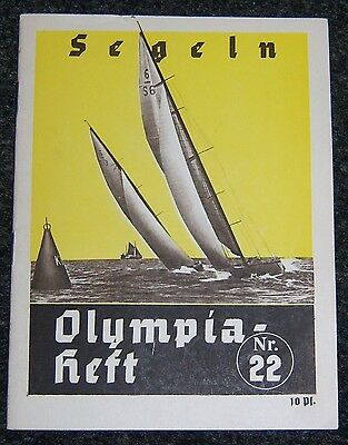 OLYMPICS 1936  Booklet  - Sailing.  Nr.22.