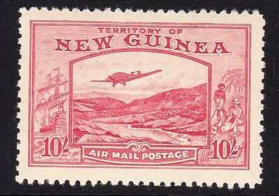 New Guinea 1939 10/- Pink Sg 224 Mint.