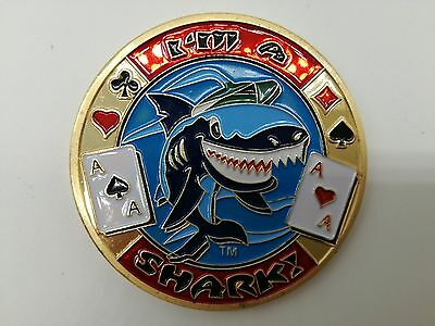 I'M A SHARK Golden Casino Poker Card Guard Cover Protector