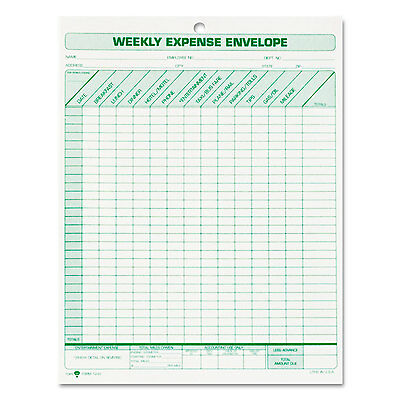 Tops Weekly Expense Envelope 8 1/2 x 11 20 Forms 1242