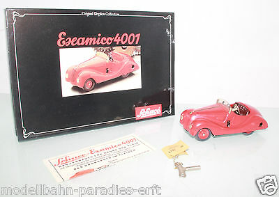 Schuco Oldtimer 4001 Examico rot Blechmodell mit Friktion in OVP (LL4048)
