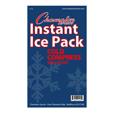 Champion 16 Pack Case Instant Cold Compress Ice Packs IC16 (NEW)