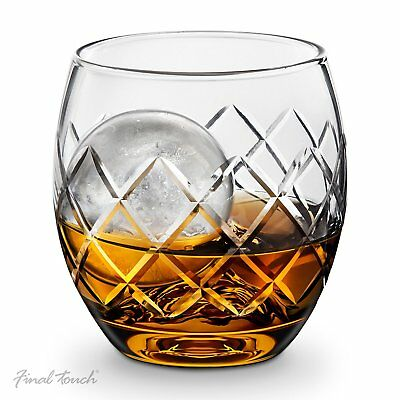 Final Touch YARAI Whisky ON THE ROCKS Glass Set Silicone Ice Cube Ball Whiskey