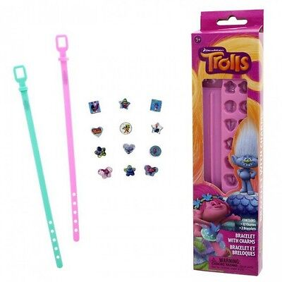 Trolls Bracelet with Charms Bands Pink Band Craft Girls Gift Troll Bracelets New