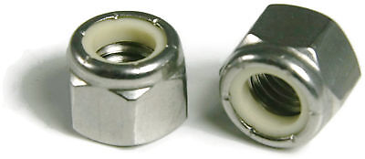 Waxed Nylon Insert Lock Nut Nylock 18-8 Stainless Steel Hex Nuts #6-32 QTY100