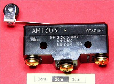 Panasonic AM1303F SPDT Roller Lever Microswitch, 10 A@ 250Vac