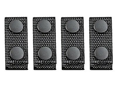 """Uncle Mike's Professional Belt Keeper 4 Pack With Snap Closure Black 88651 - 2"""""""