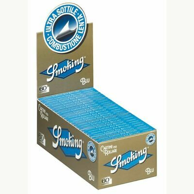 1 Box Cartine Smoking Blu Corte 50 Libretti 3000 Cartine