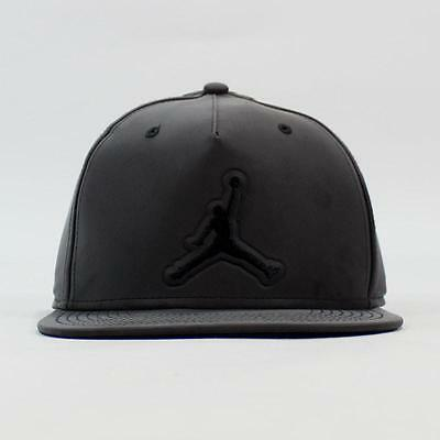 Nike Air Jordan 5 Retro V Black 3M Reflective Snapback Adjustable Hat  801773-010 5ec3163be