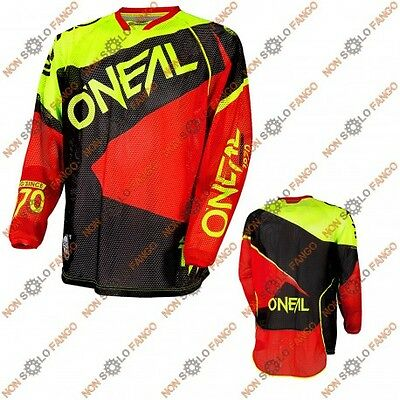 Maglia Off-Road O'neal HARDWEAR Jersey LE FLOW Vented Hi-vis/Red