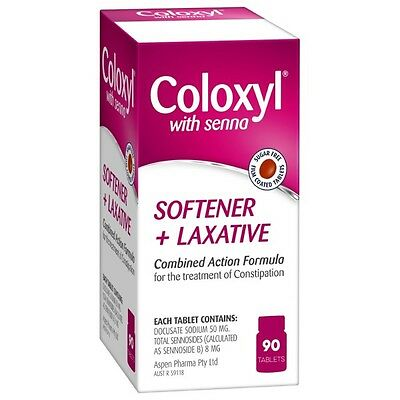 Coloxyl With Senna Softener and Laxative Tablets 90 NEW