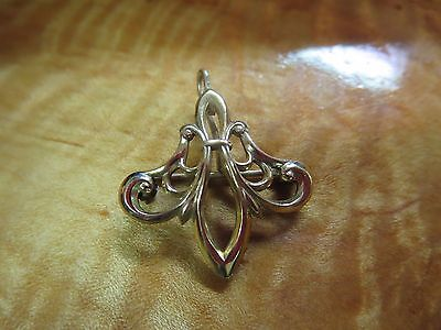 Victorian Fleur De Lis 12K Gold Filled Watch Pin-Marked Ct
