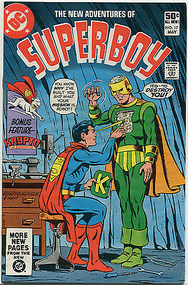 The New Adventures of Superboy #17 - DC Comics 1981 comic book VF/NM Bronze Age
