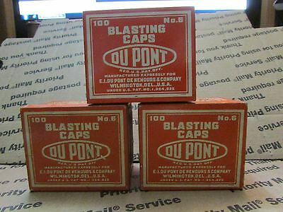 I Miners Mining Blasting Cap Tin Lot To Of 3 DuPont  No 6 with goodies