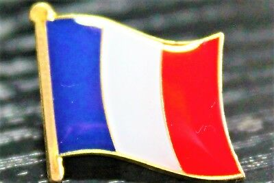 FRANCE French Country Metal Flag Lapel Pin Badge *NEW*