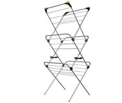 Minky 3 Tier 21M Indoor Clothes Airer With Flip Outs Dryer Limited Time + Stocks