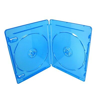 SIX (6) Blu-ray Cases 12mm 2-Disc DOUBLE w/ Logo Empty Replacement Case