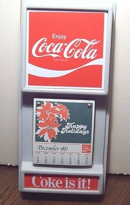 "Gorgeous, New, Vintage, Rare ""enjoy Coca Cola 1983 Happy Holidays"" Calendar"