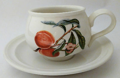 Portmeirion Pomona Romantic Shape Cup and Saucer The Royal George Apple Design