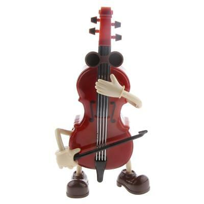 Lovely Plastic Swing Guy Wind up Cello Musical Box Musical Toy Collectibles