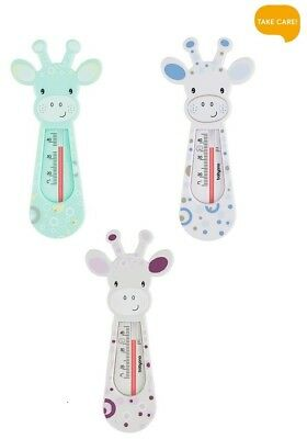 Baby Ono BATH THERMOMETER Baby Safety Floating Thermometer Toy - Giraffe White