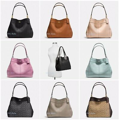 NEW COACH F28997 F57612 Lexy Shoulder Bag In Pebble Leather ... 9b18b6136efe7